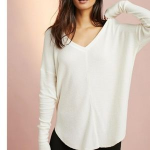 ANTHROPOLOGIE Saturday Sunday Ivory Thermal Tunic